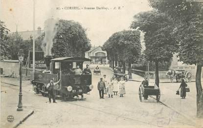 "CPA FRANCE 91 ""Corbeil, avenue Darblay"" / TRAMWAY"