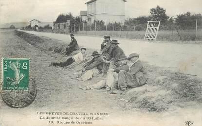 """CPA FRANCE 91 """"Les Grèves de Draveil  Vigneux"""""""