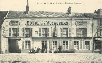 """CPA  FRANCE 91 """"Angerville, Hotel des Voyageurs"""""""