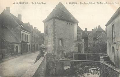"""/ CPA FRANCE 61 """"Longny, rue Saint Hubert, vieilles maisons du l'eau"""""""