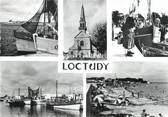 """29 Finistere / CPSM FRANCE 29 """"Loctudy, l'église, la grande plage et le port de pêche"""""""