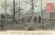 """94 Val De Marne CPA FRANCE 94 """"Boissy Saint Léger, rte d'Yerres à Limeil, cabane de bûcherons"""""""