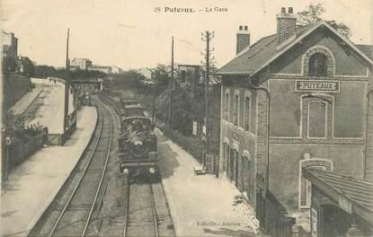 "CPA FRANCE 92 ""Puteaux, la gare"" / TRAIN"