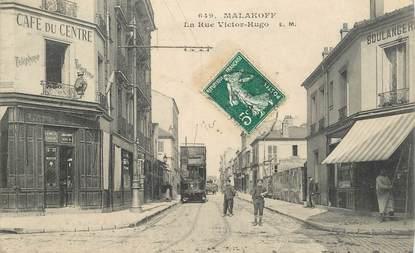 "CPA FRANCE 92 ""Malakoff, la rue Victor Hugo"" / BUS"