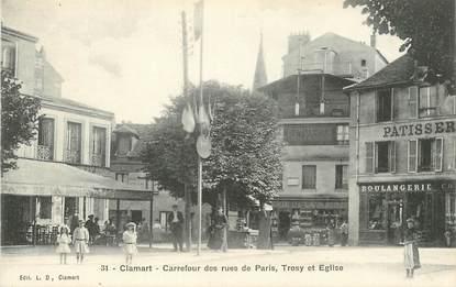 """CPA FRANCE 92 """"Clamart, carrefour des rues de Paris, Trosy et Eglise"""""""