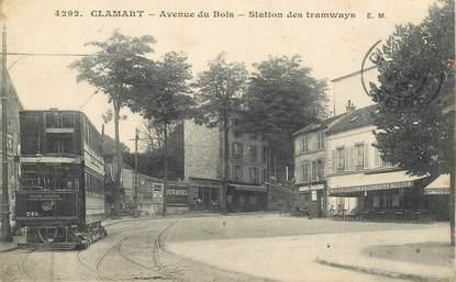 """CPA FRANCE 92 """"Clamart, avenue du Bois, station des tramways"""""""