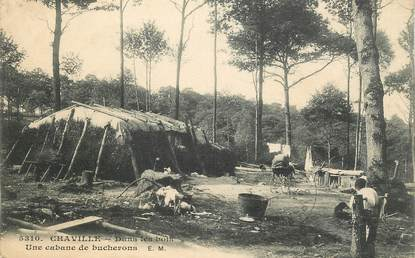 """CPA FRANCE 92 """"Chaville, une cabane de bucherons"""""""
