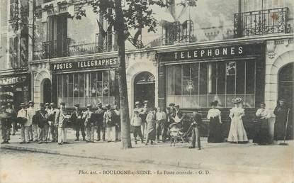 """CPA FRANCE 92 """"Boulogne sur Seine, la Poste centrale"""""""