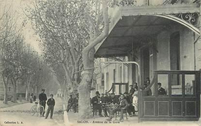 "/ CPA FRANCE 13 ""Salon, av de la gare"""