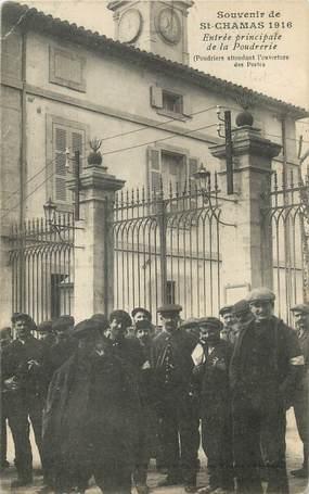 """/ CPA FRANCE 13 """"Saint Chamas, entrée principale de la Poudrerie"""""""