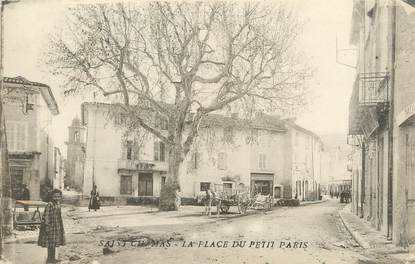 "/ CPA FRANCE 13 ""Saint Chamas, la place du Petit Paris"""