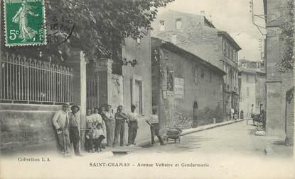 """/ CPA FRANCE 13 """"Saint Chamas, Av Voltaire et Gendarmerie"""""""