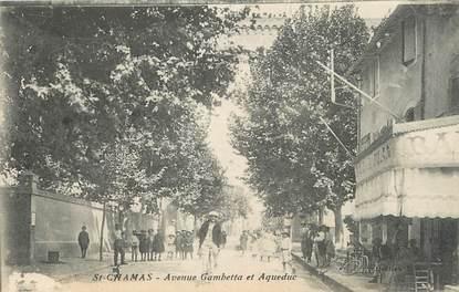 "/ CPA FRANCE 13 ""Saint Chamas, av Gambetta et Aqueduc"""