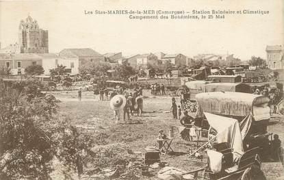 """/ CPA FRANCE 13 """"Les Saintes Maries, campement des Bohémiens"""" / GITAN"""