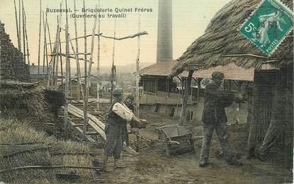 """CPA FRANCE 92 """"Meudon, Buzenval, Briqueterie Quinet Frères, ouvriers au travail"""""""