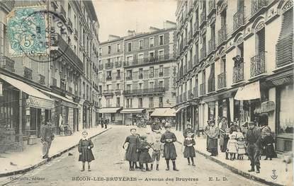 """CPA FRANCE 92 """"Bécon les Bruyères, avenue des Bruyères"""""""