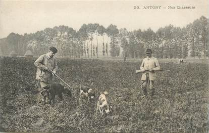 """CPA FRANCE 92 """"Antony, les chasseurs"""""""