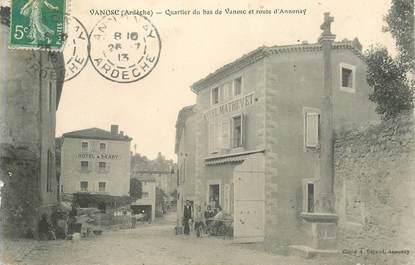 """CPA FRANCE 07 """"Vanosc, quartier du bas de Vanosc et route d'Annonay"""""""