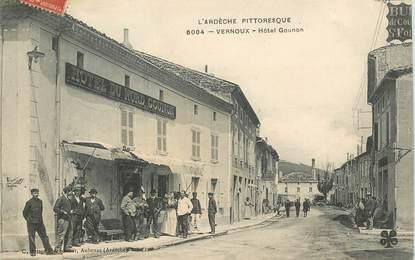 """CPA FRANCE 07 """"Vernoux, Hotel Gounon"""""""