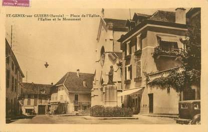 """/ CPA FRANCE 73 """"Saint Génix sur Guiers, place de l'église"""""""