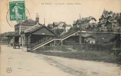 """CPA FRANCE 78 """"Triel, la Gare, jolies villas"""""""