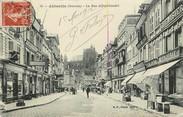 """80 Somme CPA FRANCE 80 """"Abbeville, la rue Alfred Cendré, Imprimerie, Epicerie"""""""