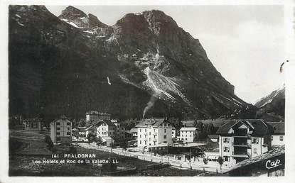 """/ CPSM FRANCE 73 """"Pragnolan La Vanoise, les Hôtels et Roc de la Valette"""""""