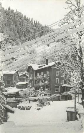 """/ CPSM FRANCE 73  """"La Giettaz en hiver, hôtel de l'Arrondine"""""""