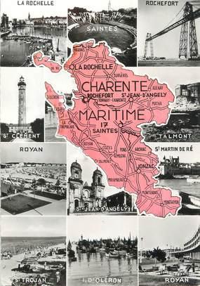 "/ CPSM FRANCE 17 ""Charente Maritime"" /  CARTE  GEOGRAPHIQUE"