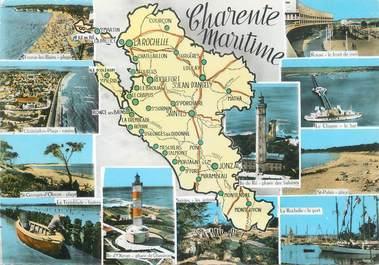 "/ CPSM FRANCE 17 ""Charente Maritime "" /  CARTE  GEOGRAPHIQUE"