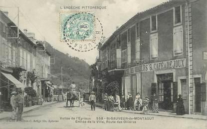 """CPA FRANCE 07 """"Saint Sauveur de Montagut, route des Ollières"""""""