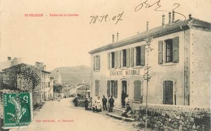 """CPA FRANCE 07 """"Saint Félicien, route de la Louvesc, la gendarmerie"""""""