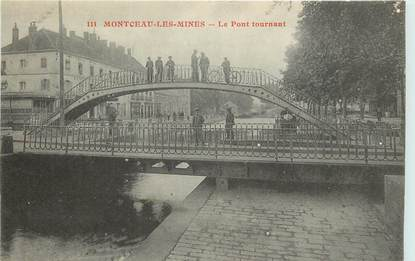 """CPA FRANCE 71 """"Montceau les Mines, Le pont Tournant"""""""
