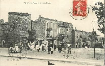 """CPA FRANCE 07 """"Ruoms, place de la République"""""""