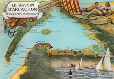 "/ CPSM FRANCE 33 ""Le Bassin d'Arcachon"""