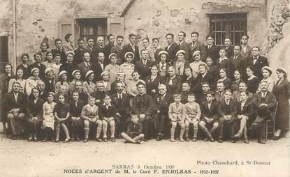 """CPA FRANCE 07 """"Sarras, 1937, Noces d'argent"""""""