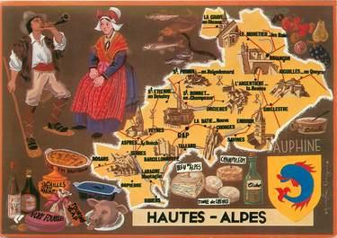 """/ CPSM FRANCE 05 """"Hautes Alpes"""" /  CARTE GEOGRAPHIQUE"""