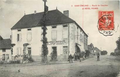"""CPA FRANCE 71 """"Saint Emiland, rte de Couches et Hotel Picard"""""""