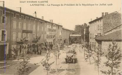 """CPA FRANCE 07 """"Lamastre, le passage du Psdt de la République"""""""