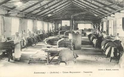 "CPA FRANCE 07 ""Annonay, usine Mayssonnier"""