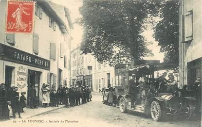 """CPA FRANCE 07 """"La Louvesc,  arrivée de l'Autobus"""""""