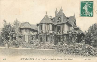 """/ CPA FRANCE 14 """"Hennequeville, propriété de Madame Réjane, petit Manoir"""""""