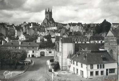 """/ CPSM FRANCE 29 """"Quimperlé, vue d'ensemble et l'église Saint Michel"""""""