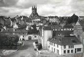 """29 Finistere / CPSM FRANCE 29 """"Quimperlé, vue d'ensemble et l'église Saint Michel"""""""