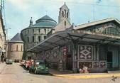 """29 Finistere / CPSM FRANCE 29 """"Quimperlé, les vieilles halles et l'église Sainte Croix"""""""