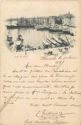 "/ CPA FRANCE 13 ""Marseille, quai du port 1897"""