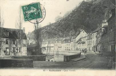 "/ CPA FRANCE 23 ""Aubusson, quai Vaveix"""