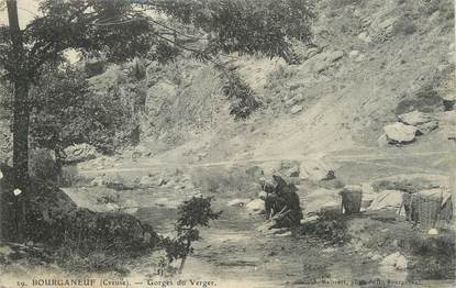 "/ CPA FRANCE 23 ""Bourganeuf, gorges du verger"""
