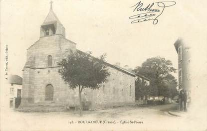 "/ CPA FRANCE 23 ""Bourganeuf, église Saint Pierre"""