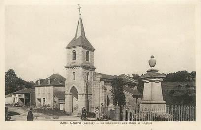 """/ CPA FRANCE 23 """"Chard, le monument aux morts et l'église"""""""